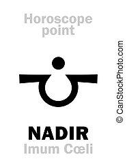 cœli),  astrology:,  nadir,  (imum