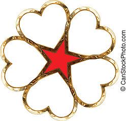 cœurs, étoile