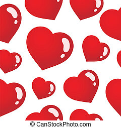 cœurs, 3, seamless, fond