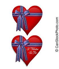 cœurs, 4 juillet, ou, valentin