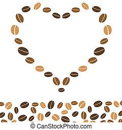 cœurs, café, amour, fond