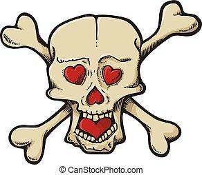 cœurs, crâne
