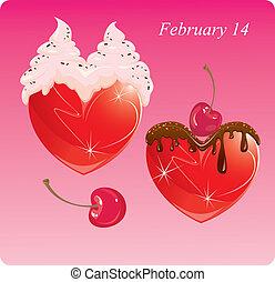 cœurs, cream., chocolat