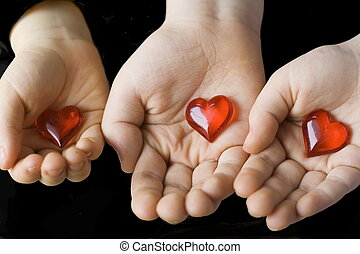 cœurs, enfants