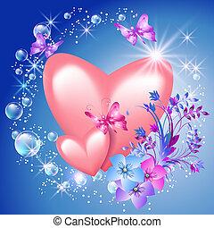 cœurs, fleurs