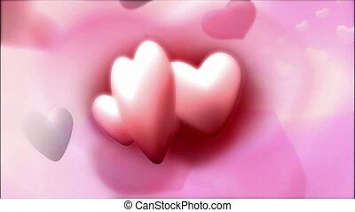 cœurs, flotter