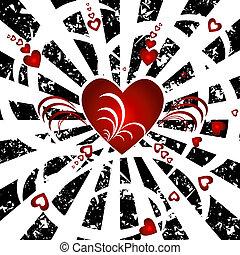 cœurs, fond
