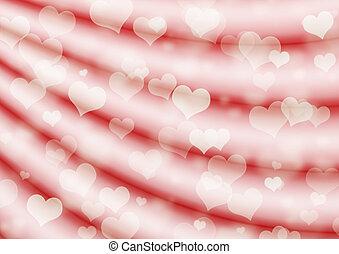 cœurs, fond, valentin