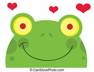 cœurs, grenouille