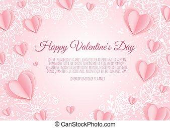 cœurs, hearts., s, fond, jour, valentin