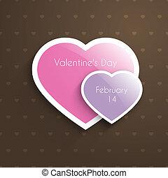 cœurs, jour, carte, valentine