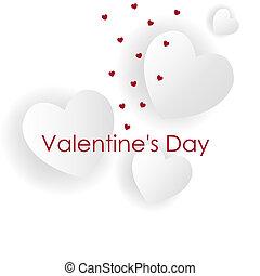 cœurs, jour, valentine