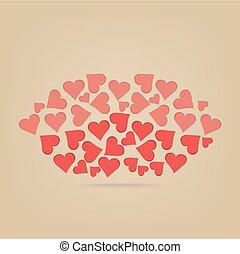 cœurs, lèvres, fait