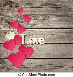 """cœurs, """"love"""", mot, carte, fetes"""