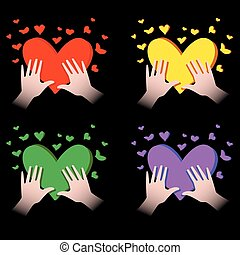 cœurs, mains