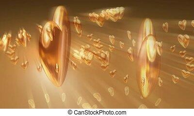 cœurs, or