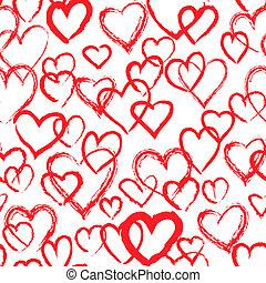 cœurs, pattern., seamless