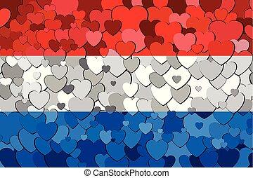 cœurs, pays-bas, fond, fait