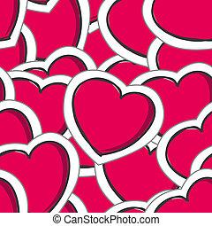 cœurs, petite amie, seamless, fond
