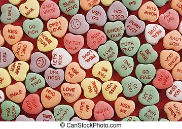 cœurs, red., bonbon