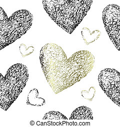 cœurs, seamless, modèle