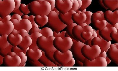 cœurs, transition, amour