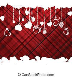 cœurs, valentine, eps, template., mariage, 8, ou, jour