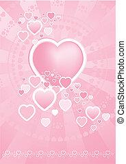 cœurs, vecteur, illustration