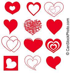 cœurs, vecteur