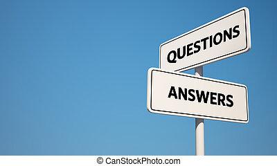 c , απαντώ , ερώτηση , οδοδείκτης