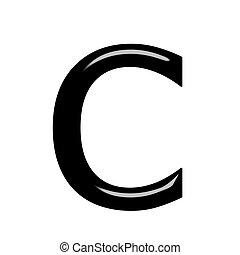 c , γράμμα , 3d