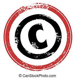 c , πνευματικά δικαιώματα , γραμματόσημο , σύμβολο , διανοούμενος , προστασία , ιδιοκτησία, περιουσία , κόκκινο