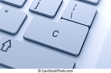 c, キーボード, 単語, コンピュータ, ボタン