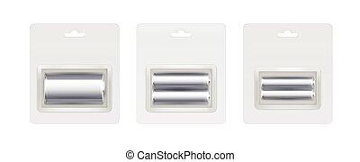 c, セット, aa, 電池, metalic, アルカリ, 銀