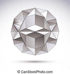 c, 抽象的, オブジェクト, polygonal, ベクトル, デザイン, 幾何学的, 要素, 3d