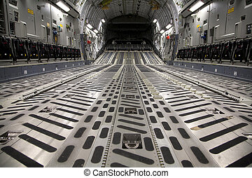 C-17 Interior - Unclassified interior view of a C-17 ...