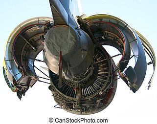 c-17, militær flyver, motor