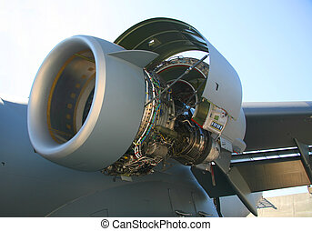 C-17 Military Aircraft Engine - Opened C-17 Military...