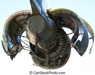 C-17 Military Aircraft Engine Opened Up