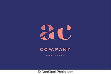 c a ac company small letter logo icon design