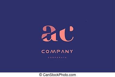 c a ac company small letter logo icon design