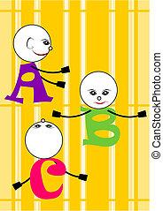 c, alfabeto, b, -