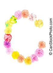 """C"" Alphabet flowers made from paper craftwork - Colorful..."
