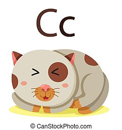 C alphabet vector animal
