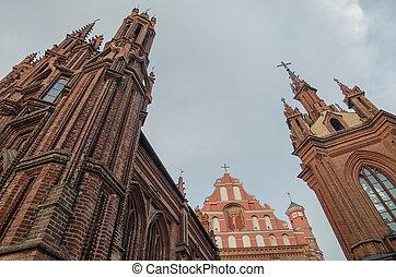 c/, anne, iglesia, en, vilnius