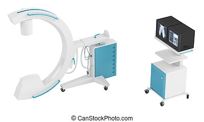 C-arm image intensifier used primarily for fluoroscopic...