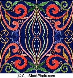 c, art, vendange, pattern., seamless, tracery, broderie, ligne, tapisserie