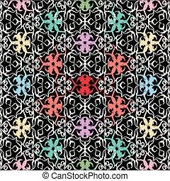 c, arte, vindima, pattern., seamless, tracery, bordado, linha, tapeçaria