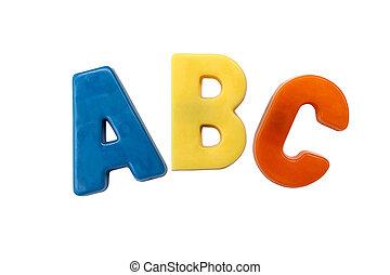 c, b, lettre, aimants