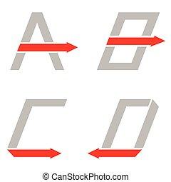 c, b, lettres, d